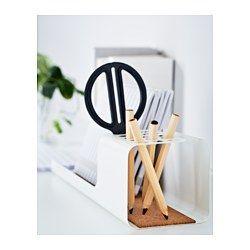 IKEA - KVISSLE, Schreibutensilienfach, Praktisch für Stifte, Lineale, Mobiltelefon usw.Eine Korkschicht sorgt dafür, dass nichts verrutscht.
