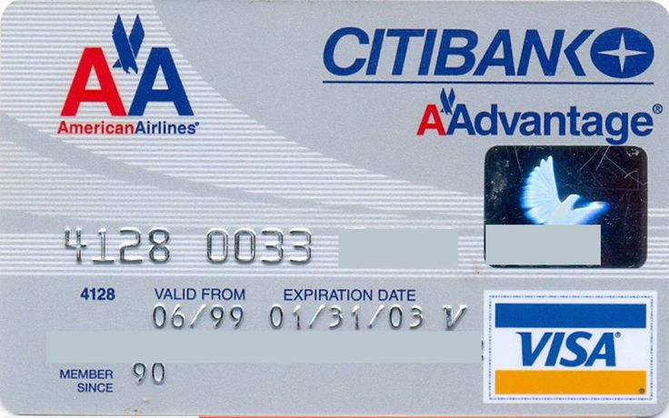 American Airlines VISA (Citibank, United States of America) Col:US-VI-0347-2