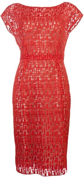 LELA ROSE Crochet Dress - Lyst