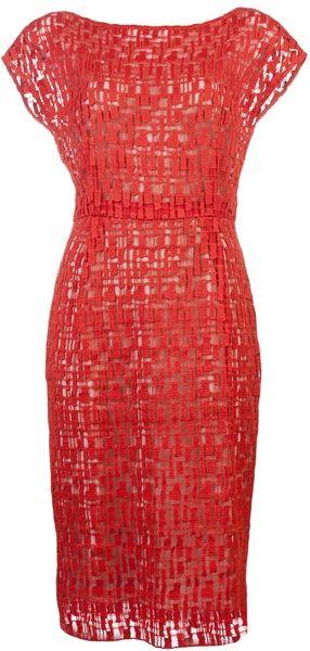 LELA ROSE Crochet Dress - Lyst