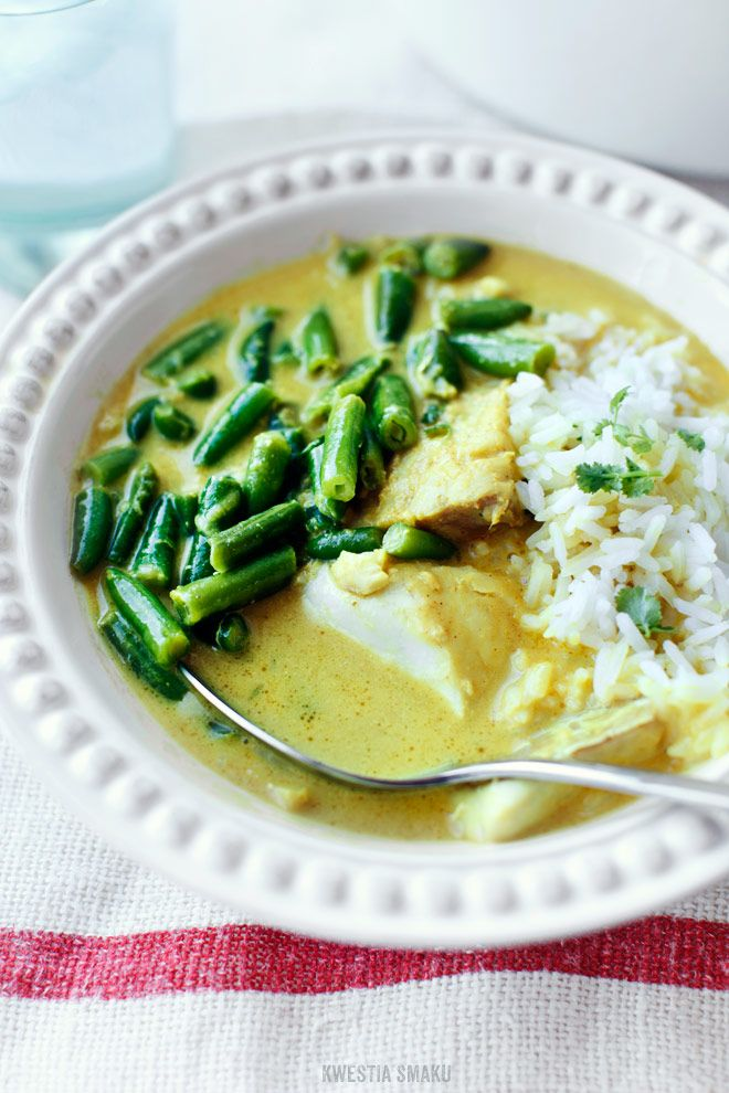 French Beans and White Fish Curry