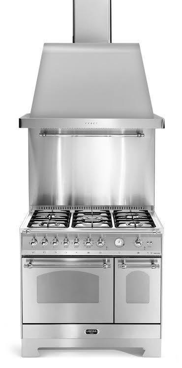 Komfyrpakke Krom - Dolce Vita 90 cm (komfyr + vifte + veggbeskyttelse) | Range Cookers fra MyRangeCooker.no