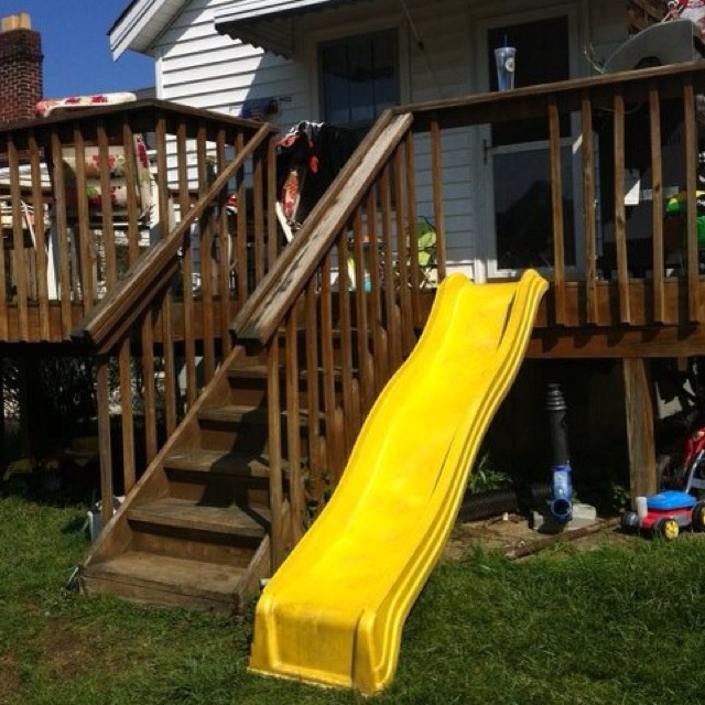 Why take the steps when u can slide :-)