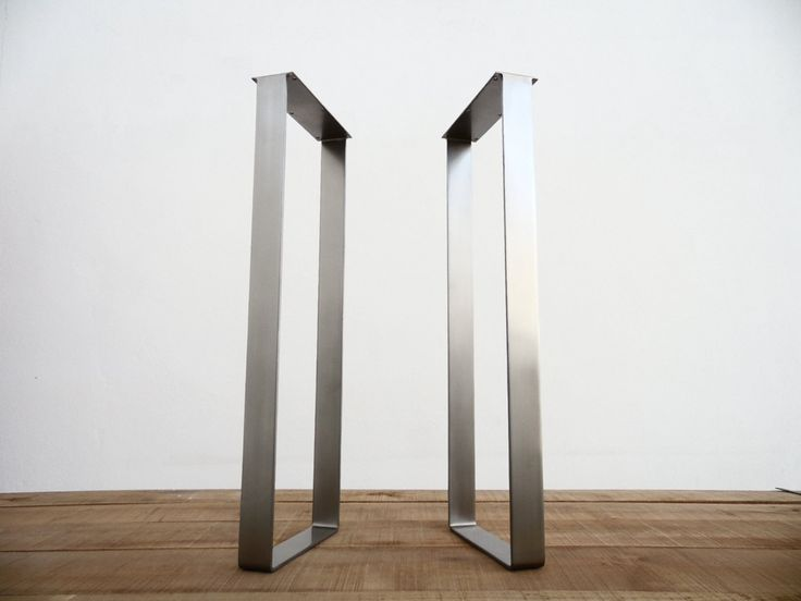 """40"""" X 14""""  Flat Stainless Steel Table Legs, Height 33"""" - 40"""" Set(2)Flat Stainless Steel For 40'' High Table Base For Modern Interiors.Are you looking modern and sturdy stylish 40'' high table base ,check Balasagun ,one of the best online custom table base manufacturer."""