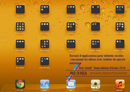 Recueil d'applications pour tablettes tactiles concernant les élèves avec troubles du spectre autistique | INS HEA