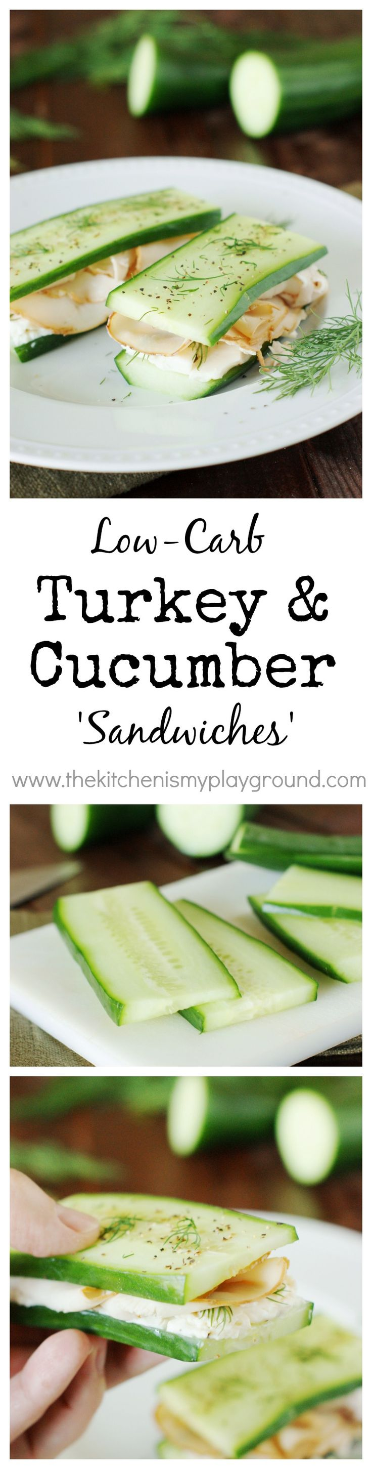 Low-Carb Smoked Turkey 'Sandwiches' ~ a GREAT low-carb lunch or snack option!    www.thekitchenismyplayground.com