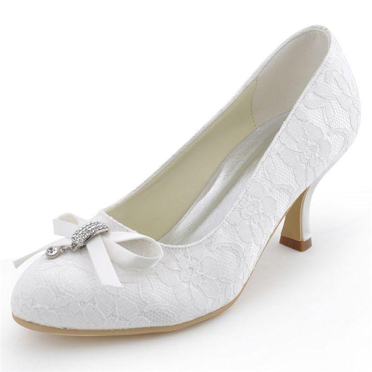 Runde kappe frauen hochzeit high heels schuhe frühjahr herbst partei spitze blume satin braut heels pumps stiletto RR-183 YY //Price: $US $45.84 & FREE Shipping //     #abendkleider