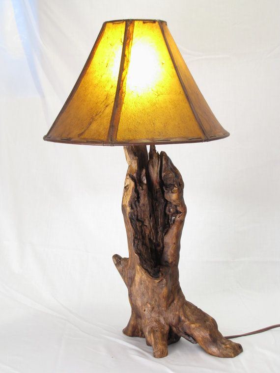 Driftwood Log Table Lamp  Live Edge Wood Lamp by MissouriNatureArt, $129.00