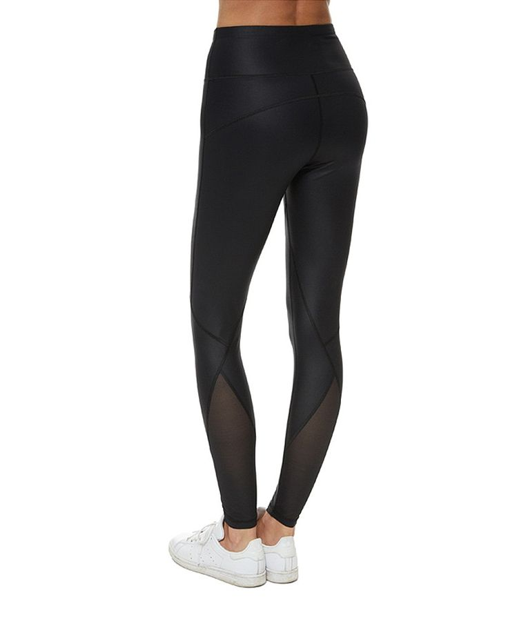 This season Sweaty Betty gives your go-to black leggings a luxury upgrade. High-waisted with fashion-forward mesh panels, the deep scooped seamlines sculpt the silhouette. The high-stretch fabric is engineered to ensure you can wear them to workout and play.