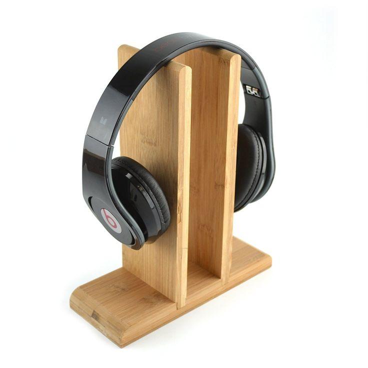 Amazon.com: Bamboo Style Headphones Stand / Headset Holder / Desk Display Hanger, Fit Audio Technica, Bose QC3, QC2, QC15, AE, AE2, AKG, Monster Beats Studio, Solo, Sennheiser, Parrot Zik, Logitech DJ, Professional, Gaming Headset and Many Earphones: Electronics