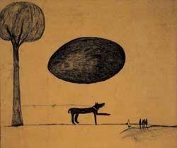 """#TRANSVANGUARDIA Transvanguardia.   Enzo Cucchi  """"A terra d'uomo"""". Es sinónimo de reciclar, el artista actúa libremente en lo que quiere realizar."""