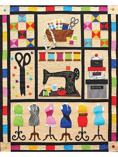 Applique Lap Quilt & Throw Patterns - Sewing Fun Quilt Pattern