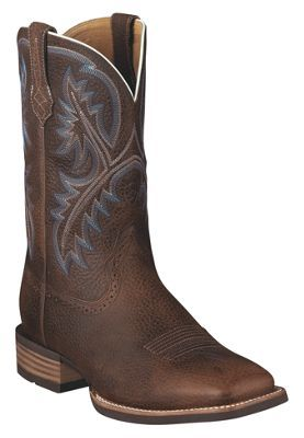 #fishing #boating #hunting Ariat Quickdraw Square Toe Western Boots for Men - Brown Oiled Rowdy - 9.5M… #camping #hiking #outdoors #shooting