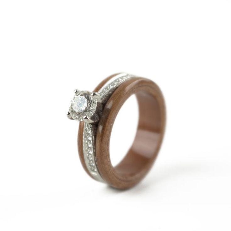 13 Best Engage Naturally! Wooden Engagement Rings Images