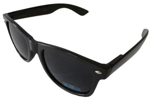 Classic Wayfarers Designer Inspired Style Sunglasses w/ UV Protection - Black/Black