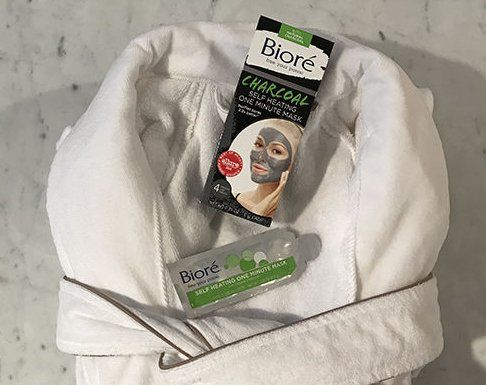 "5 winners, a $100.00 Bioré Charcoal Self Heating One Minute Mask and Frette robe. ""Extra"" is giving a Bioré Charcoal Self Heating One Minute Mask and Frette robe to 5 lucky friends."