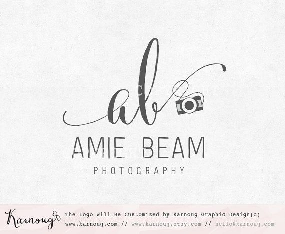 Initial Logo, Camera logo, Photography Logo, Custom Logo, Premade Logo, Custom Watermark, Custom Branding, Photography Logo Design