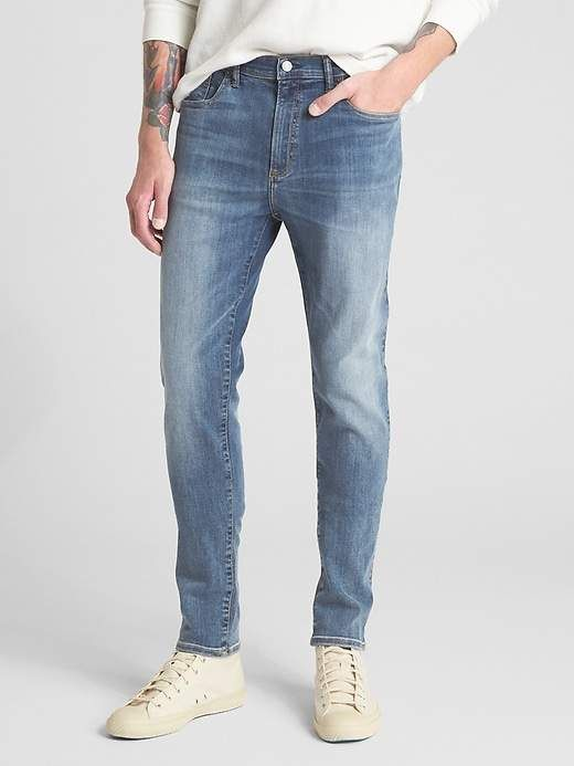 7aa814d714cae Gap Mens Jeans In Super Skinny Fit With Gapflex Medium Indigo ...