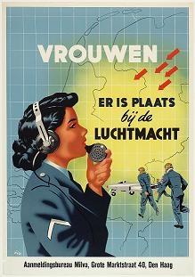 Wervingsposter voor vrouwen bij de Luchtmacht