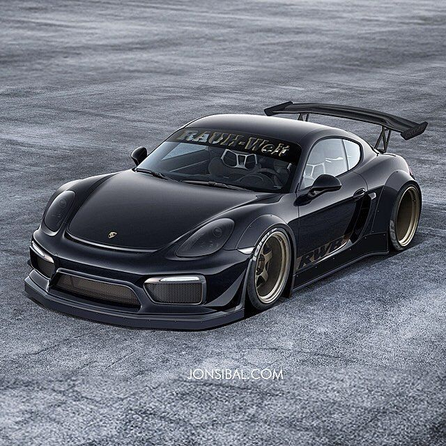 RWB Widebody Porsche Cayman GT4 Is A Mythical Beast