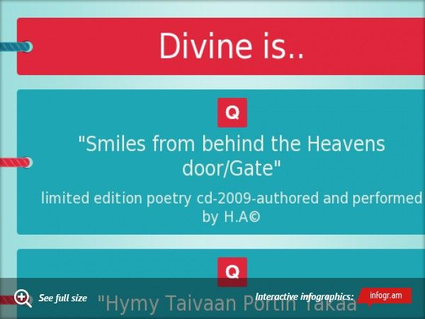 Divine is.. limited edition poetry cd 2009 by H.A©