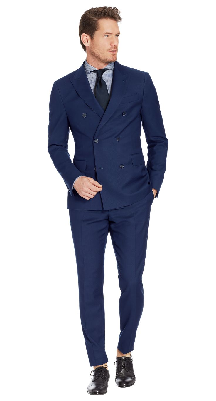 Suit Blue Plain Easton