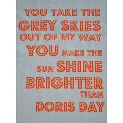 Doris Day Orange Singsong Crafty Panel