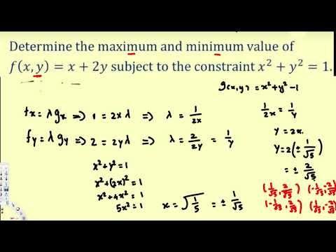 Lagrange Multipliers - Part 2 - Vector Calculus