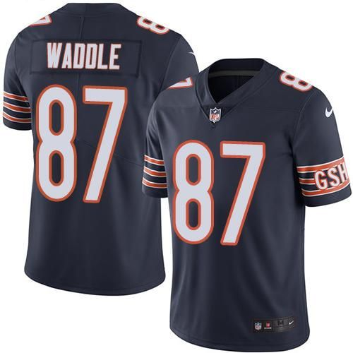 Nike Bears #87 Tom Waddle Navy Blue Men's Stitched NFL Limited Rush Jersey