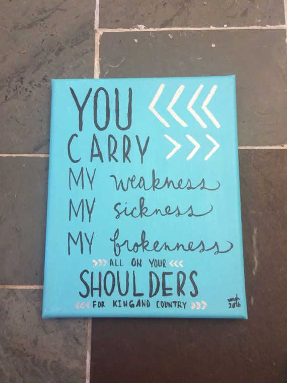Shoulders For King and Country lyric art by mghpaints on Etsy