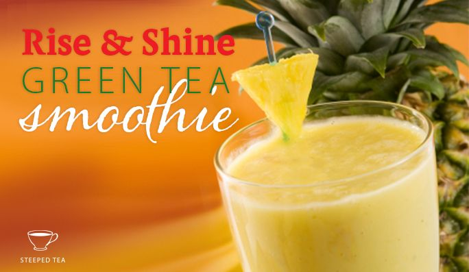 Rise and Shine Green Tea Smoothie Serves:   1   Ingredients 1 ½ cups Steeped Tea Classic Sencha tea, prepared & cold 1 cup Plain yogurt 2 tbs Honey ½ cup Canned pineapple, rinsed Juice of 1 lemon wedge Handful of ice cubes Instructions Blend all of the above ingredients in a …