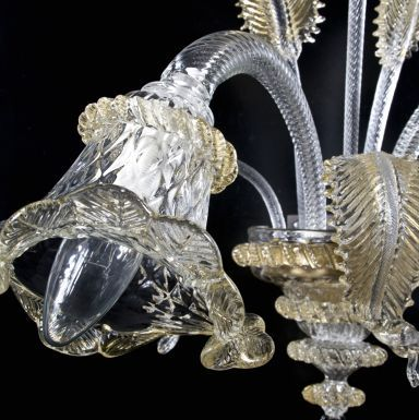 #WallLamp Atena, created in #Murano #glass from Venice.  Visit www.sognidicristallo.it to see or buy online our creations! Price 2 lights with golden details € 200.