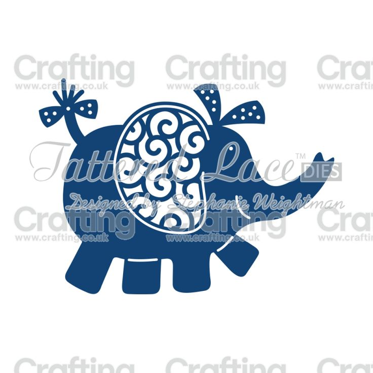 Tattered Lace Dies - Elephant