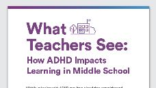 Graphic of What Teachers See: How ADHD Impacts Learning in Middle School