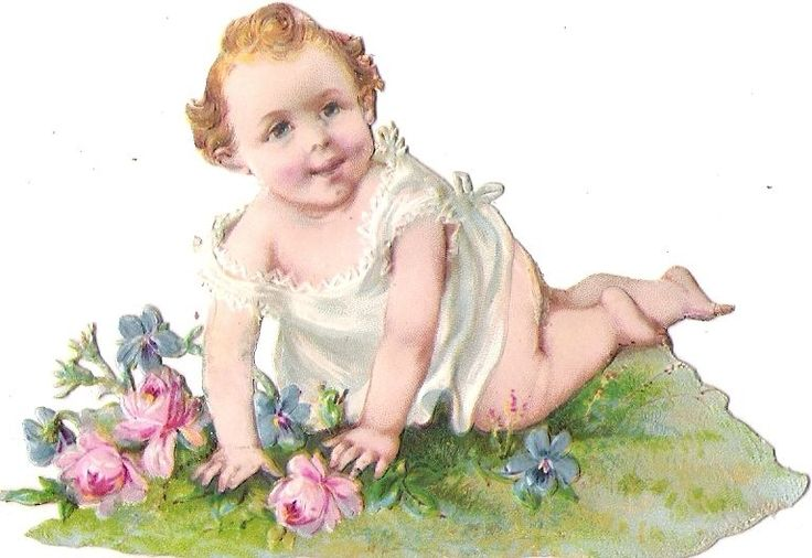 Oblaten Glanzbild scrap die cut chromo Baby bebe Kind child kid girl Mädchen:
