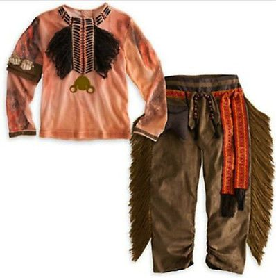 Disney Exclusive Lone Ranger Deluxe TONTO Halloween Costume Boys - New Authentic