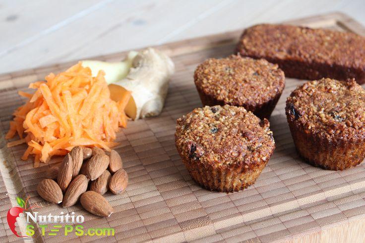 Ginger Carrot Paelo Muffins Grain Gluten Free