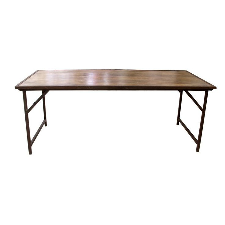 Industrial Folding Table from Sarlo - $2,800 Est. Retail - $900 on Chairish.com