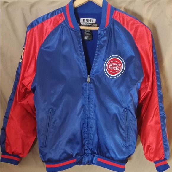 Classic Reebok Detroit Pistons Basketball jacket Large youth (size 14-16) Great condition!  ~Classic Reebok Detroit Pistons Basketball jacket Reebok Jackets & Coats