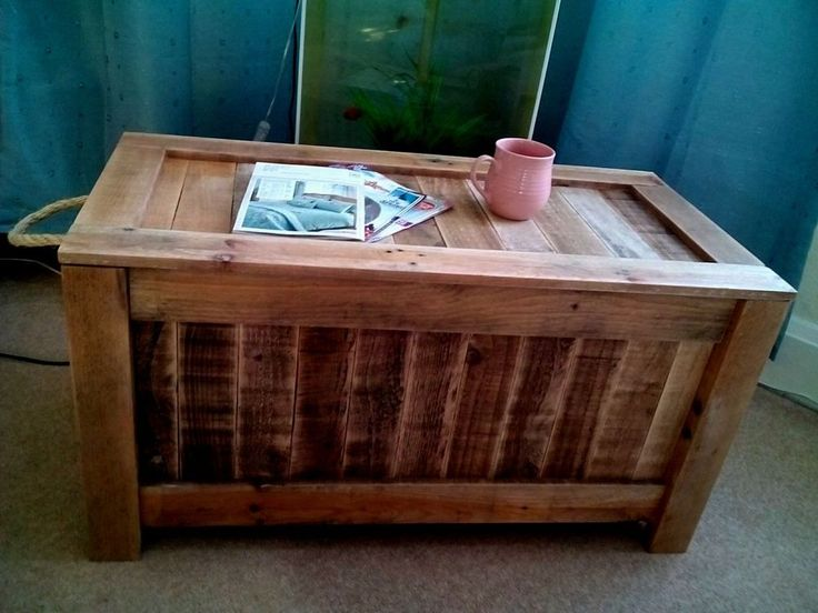 Rustic Pallet Wooden Blanket Box Vintage Coffee table Storage Box Chest Handmade in Home, Furniture & DIY, Furniture, Trunks & Chests | eBay
