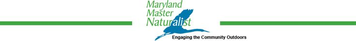 Master Naturalist program through the University of Maryland: Certified Maryland Master Naturalists help preserve and share the state's environmental wealth.