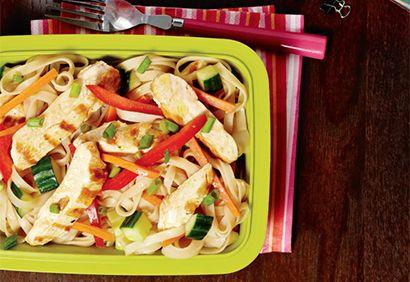 #Salade froide de pâtes au #poulet #pates #lunch