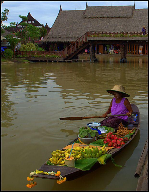 Phra Nakhon Si Ayutthaya, Thailand - Fruit Market