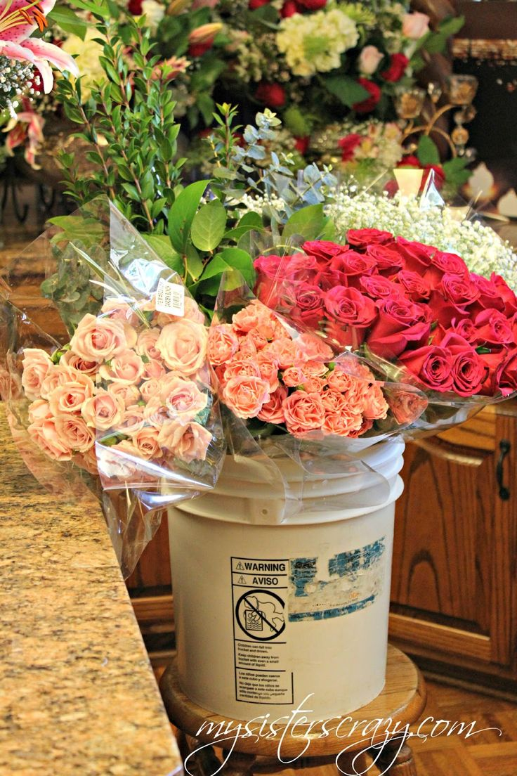Costco Flowers, you can place large orders for weddings, showers, or parties!