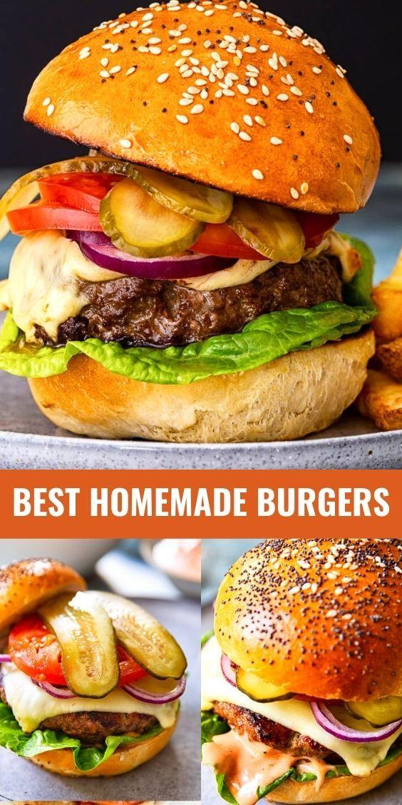 How To Make Homemade Hamburgers Br My Way Recipe Homemade Hamburgers Homemade Burgers Food Recipes