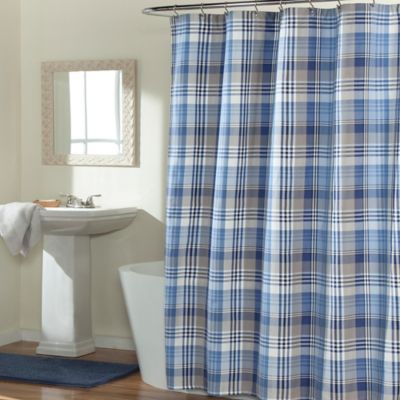m.style Mad About Plaid Shower Curtain - BedBathandBeyond.com