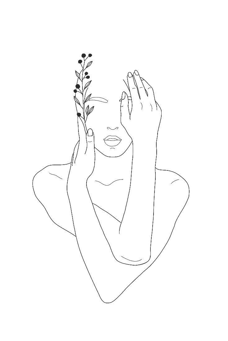 Goddess Minimalist Wall Art Printable Line Art Drawings Outline Art Art Drawings Simple