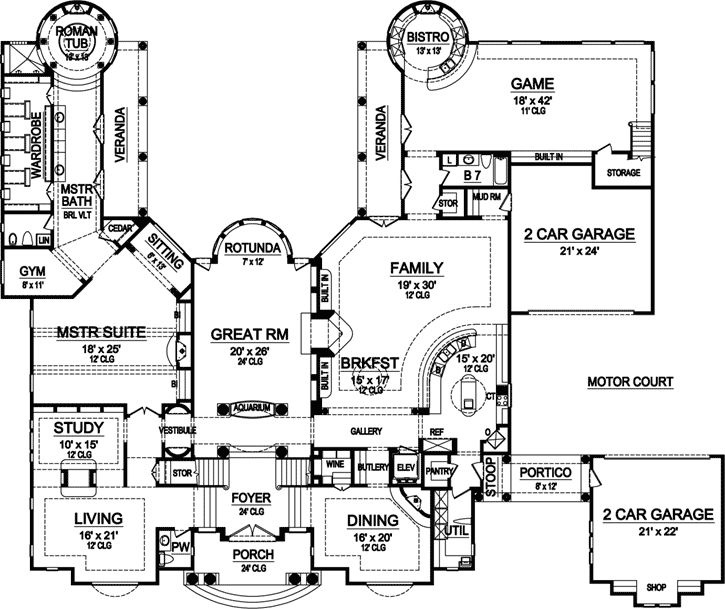 17 best images about luxurious architecture house plans on for Luxury garage plans