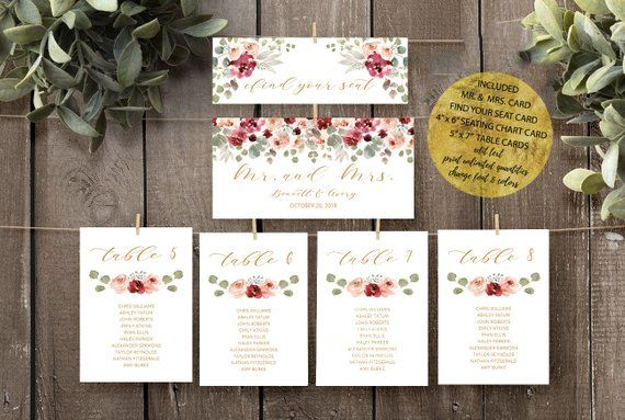 Wedding Seating Chart Cards Template Printable Wedding Etsy Seating Chart Wedding Template Seating Chart Wedding Card Table Wedding
