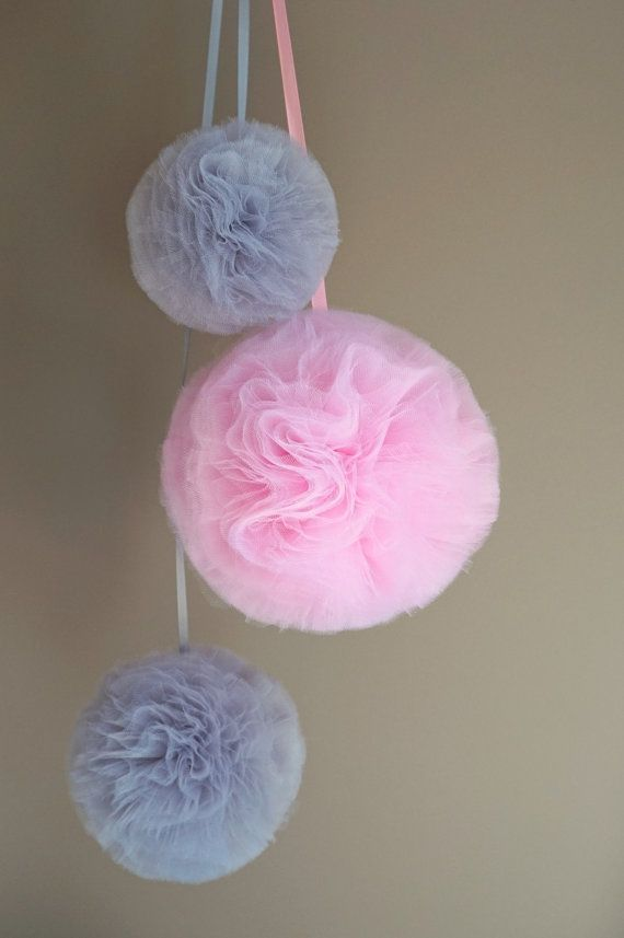 Large and Thick Tulle Pompom by EmilyHomeDecor on Etsy